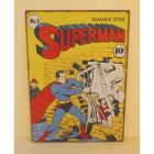 Super Heroes Large Tin Sign - Superman