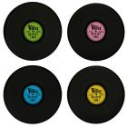 Nostalgia Record Place Mats - Set of 4
