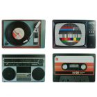 Nostalgia TV and Music Place Mats - Set of 4