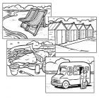 Colouring for Adults - Beach Holidays - Set of 48