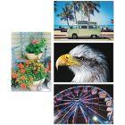 TheraJigstick Foam Puzzle Set of 4: Ferris Wheel, Flowers, Campervan and Bird of Prey.