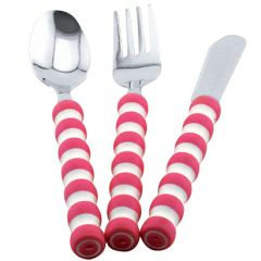 Gripables Comfortable Cutlery Set - Pink