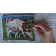 Farm Animals Wooden Jigsaw - Set of 8