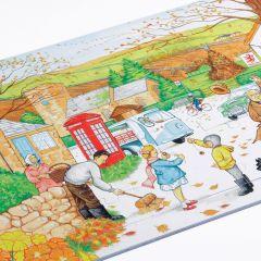 Village Scene Jigsaw - Autumn