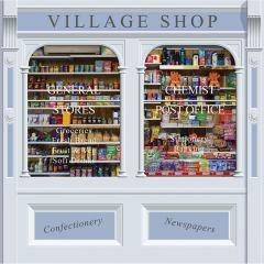 Double Drop Mural - Village Shop