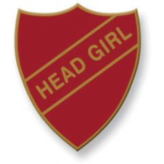 Retro School Badge - Head Girl Badge
