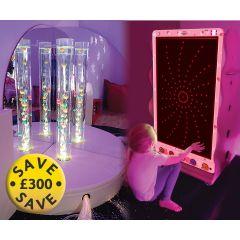 Snoezelen® Deluxe Bubble Tube Sensory Corner Kit