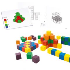 Colourful Wooden Pattern Cubes and Cards Saver Pack