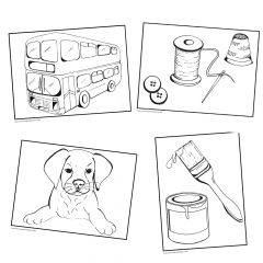 Simple Colouring for Adults - Quadruple Pack - Hobbies, Pets, Transport & DIY - Set of 192