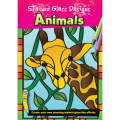 Stained Glass Design Colouring: Animals