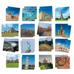 Interesting Destinations Memory, Matching & Conversation Set - 34 Cards